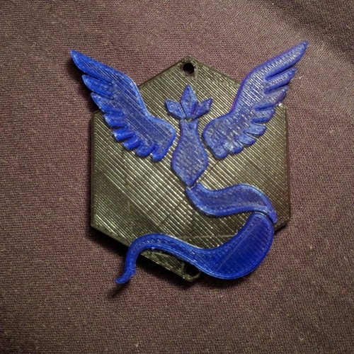 Team Mystic Badge 3D Print 101562