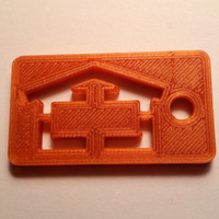 Small Shed Garage Garden House keychain 3D Printing 101564