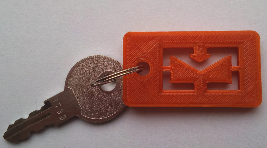Envelope keychain for your mail box 3D Print 101566