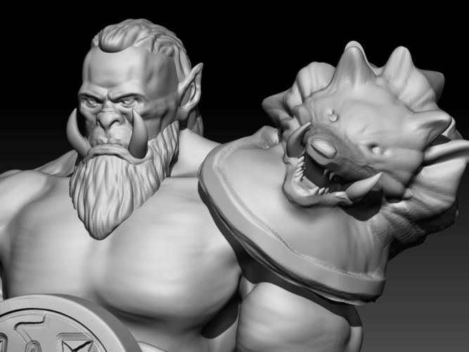 Orc  (inspired in Warcraft Movie) 3D Print 101629