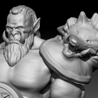 Small Orc  (inspired in Warcraft Movie) 3D Printing 101629