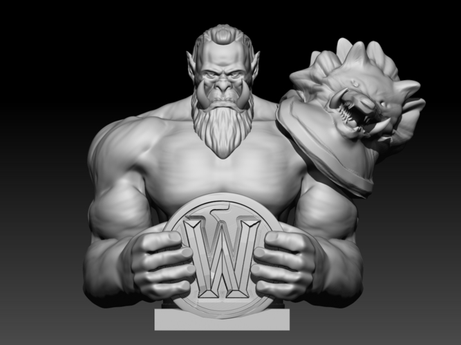 Orc  (inspired in Warcraft Movie) 3D Print 101630