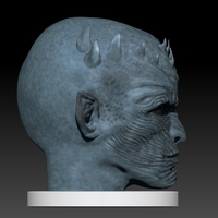 Small Night King Head (Game of Thrones) 3D Printing 101635