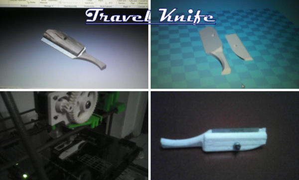 Medium Travel Knife 3D Printing 101698