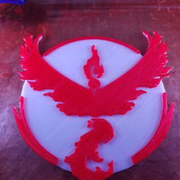 Small Pokemon Go Team Logos 3D Printing 101792