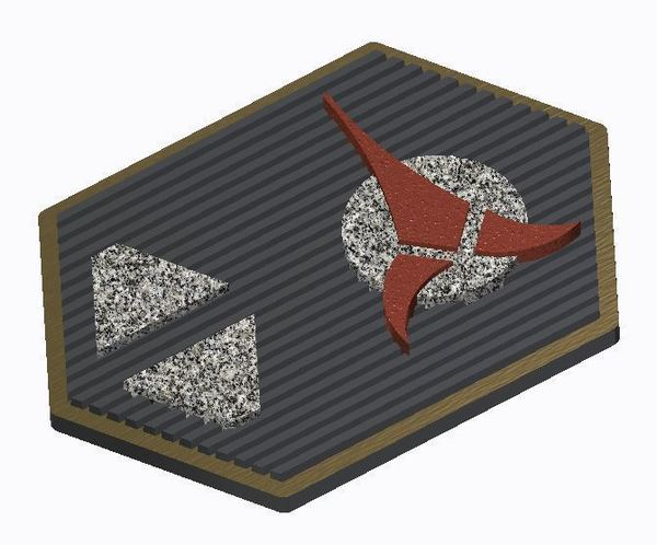 Medium Klingon Com Badge (Star Trek) 3D Printing 101800