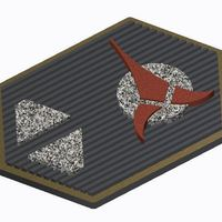Small Klingon Com Badge (Star Trek) 3D Printing 101800