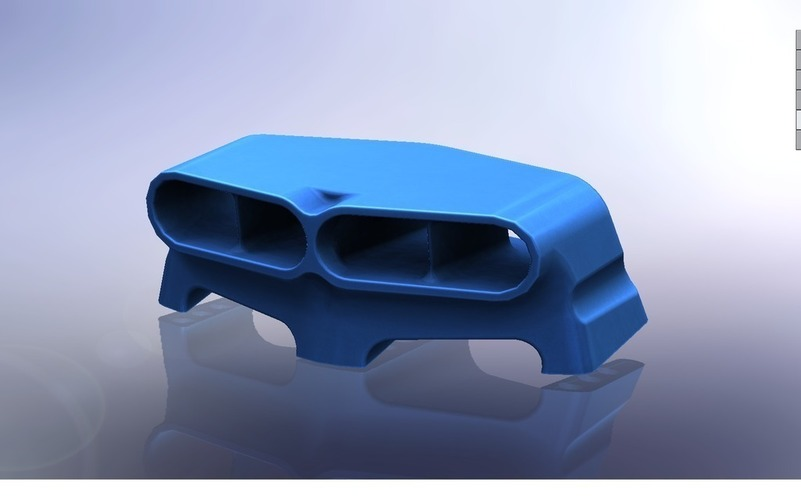 Hood Scoop Hot Rod 3D Print 101803