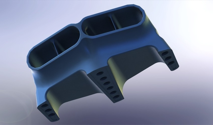 Hood Scoop Hot Rod 3D Print 101807