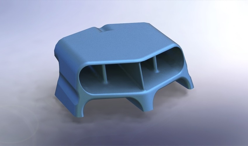 Hood Scoop Hot Rod 3D Print 101808