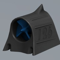 Small Mini Hood Scoop with turbine 3D Printing 101809