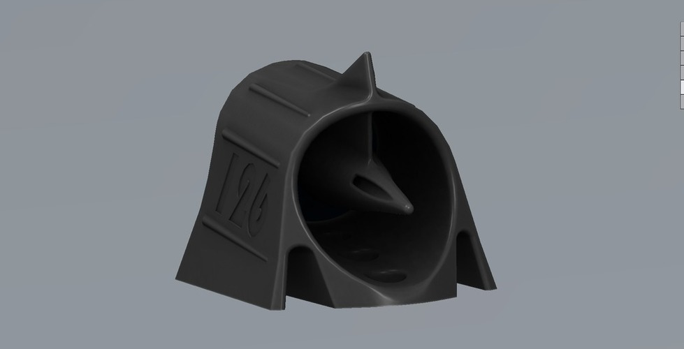 Mini Hood Scoop with turbine 3D Print 101810