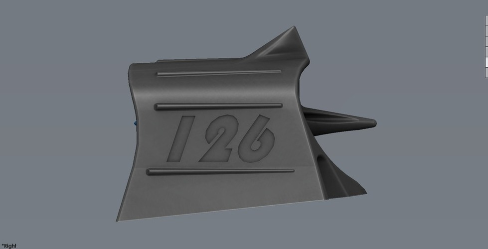 Mini Hood Scoop with turbine 3D Print 101811