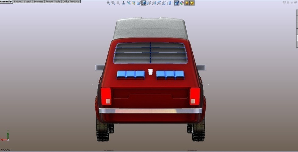 Spoiler & Shader for rear window 3D Print 101824