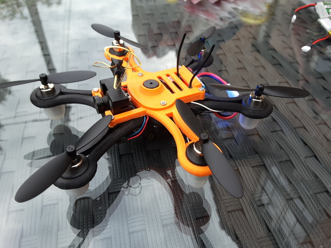 Hexacopter 125 / 110mm spracing f3 coreless 8.5x200mm 3D Print 101933