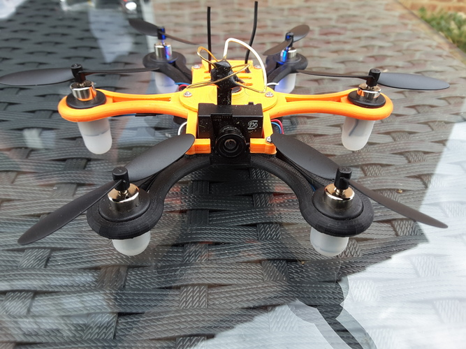 Hexacopter 125 / 110mm spracing f3 coreless 8.5x200mm 3D Print 101934
