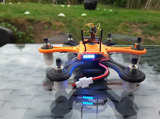 Hexacopter 125 / 110mm spracing f3 coreless 8.5x200mm 3D Print 101935