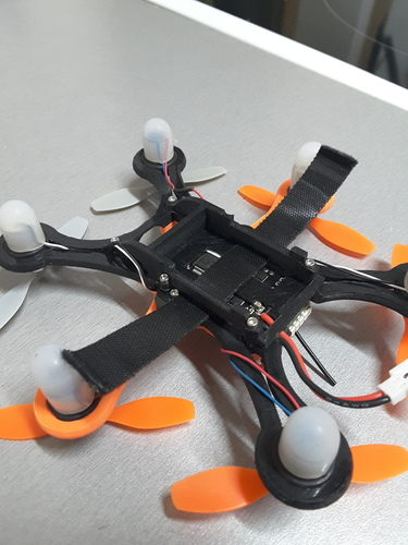 Hexacopter 125 / 110mm spracing f3 coreless 8.5x200mm 3D Print 101936