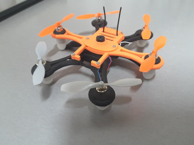 Hexacopter 125 / 110mm spracing f3 coreless 8.5x200mm 3D Print 101937