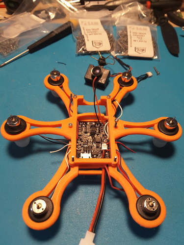 Hexacopter 125 / 110mm spracing f3 coreless 8.5x200mm 3D Print 101939