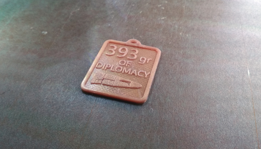 Rainbow Six Siege - Medal Weapon - 393gr OF DIPLOMACY 3D Print 101941