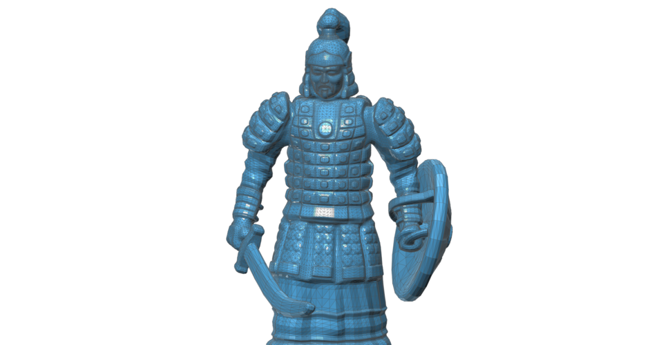 Mongolian Warrior 3D Print 101967