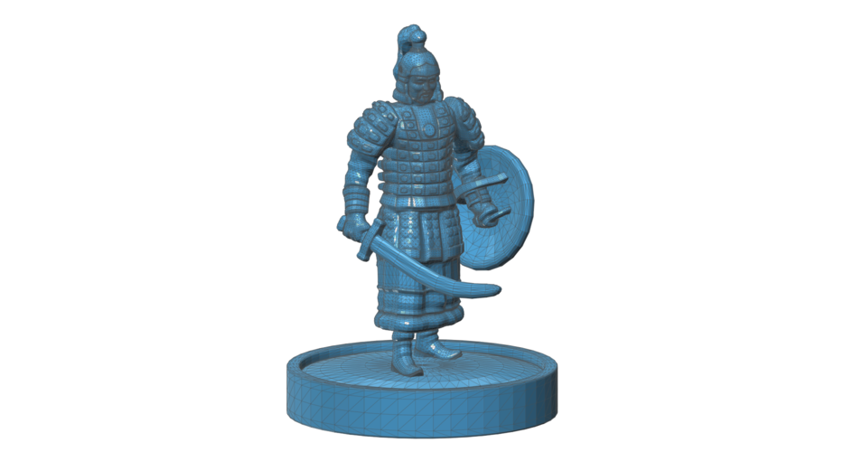 Mongolian Warrior 3D Print 101970
