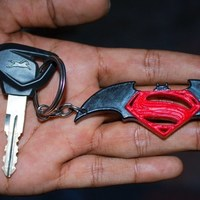 Small Batman v Superman - Keychain 3D Printing 102050