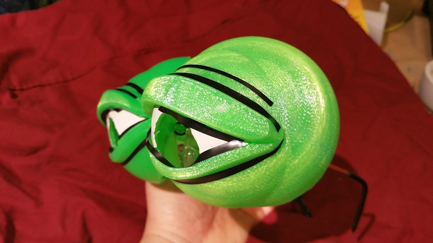 Pepe the Frog Holloween Costume Eyeglasses Tie-on 3D Print 102065