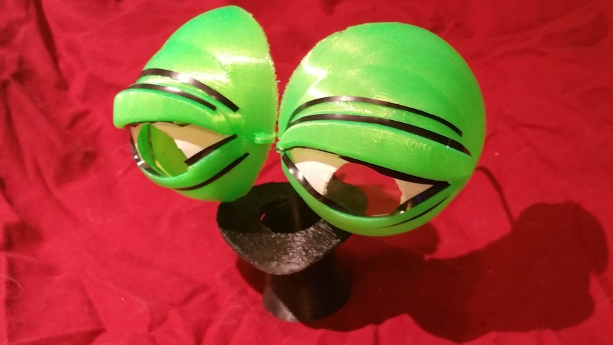 Pepe the Frog Holloween Costume Eyeglasses Tie-on 3D Print 102067