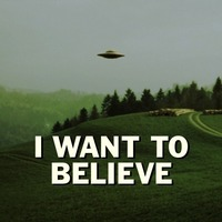 Small X Files I want to believe poster Lithopane 3D Printing 102085