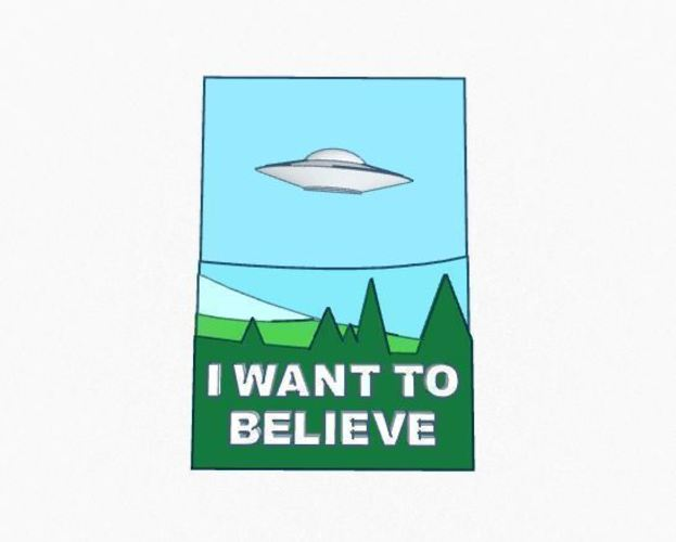 X Files- 3d I want to believe poster 3D Print 102089