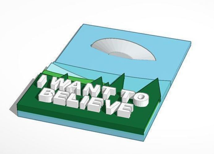X Files- 3d I want to believe poster 3D Print 102092