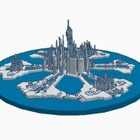 Small Stargate city of Atlantis (water/no-support remix) 3D Printing 102093
