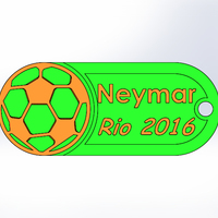 Small Keychain-Soccer player-Neymar 3D Printing 102120