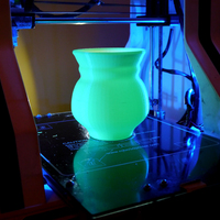 Small Green Glow UV Torchiere lamp 3D Printing 102182