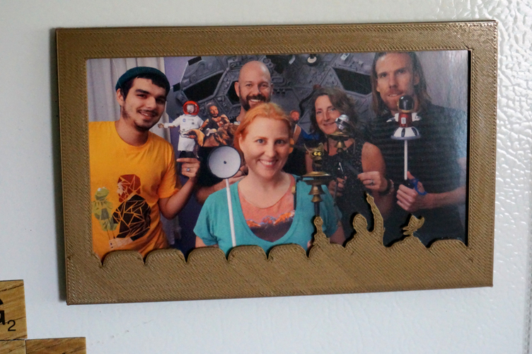 MST3K fridge magnet photo frame 3D Print 102249