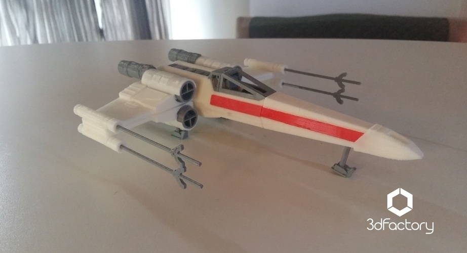 X-Wing Starfighter - Star Wars - 3dPrintable - 3dFactory Brasil 3D Print 102327