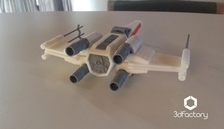 X-Wing Starfighter - Star Wars - 3dPrintable - 3dFactory Brasil 3D Print 102328