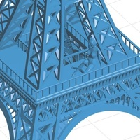 Small Eiffel Tower with Girl on it 3D Printing 102374