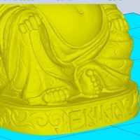 Small YodaBuddha with Name Jenny 3D Printing 102378
