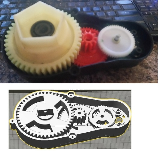Powerful Robot Gearbox V2 3D Print 102382