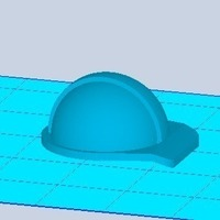 Small Hardhat Key-holder 3D Printing 102406