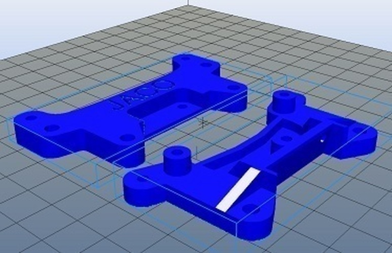 Tamiya Racing Car Shock Bracketa 3D Print 102409