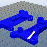 Small Tamiya Racing Car Shock Bracketa 3D Printing 102409