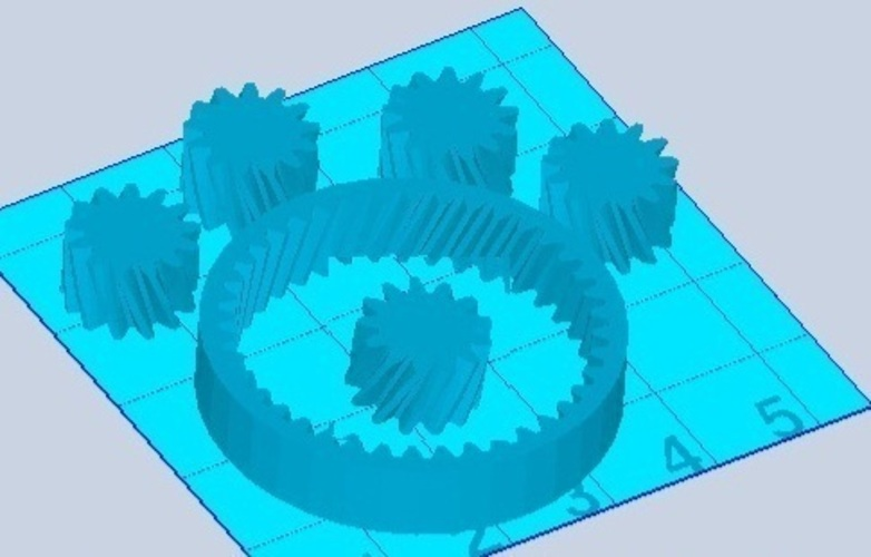 Planetary Gears 1:1 3D Print 102416