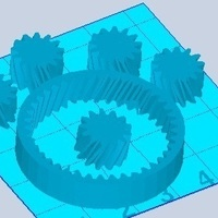 Small Planetary Gears 1:1 3D Printing 102416