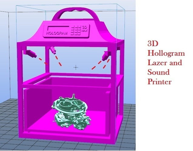 3D/4D Holographic Printer 5 seconds  3D Print 102417