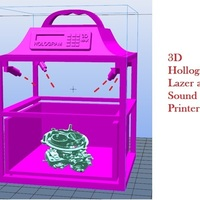 Small 3D/4D Holographic Printer 5 seconds  3D Printing 102417