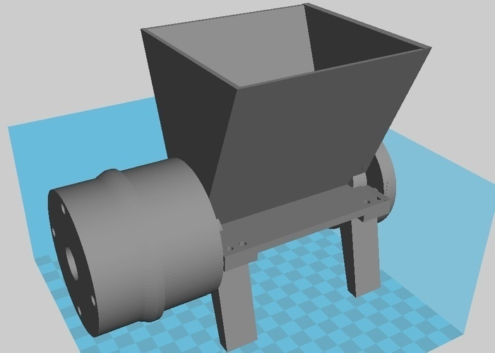 Feed Section 3d Printed for Fillament Extruder 3D Print 102428